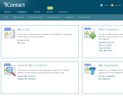 iContact Menu